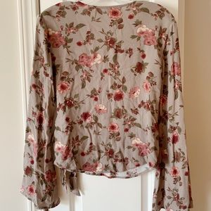 Nordstrom Tops - Floral blouse with front tie